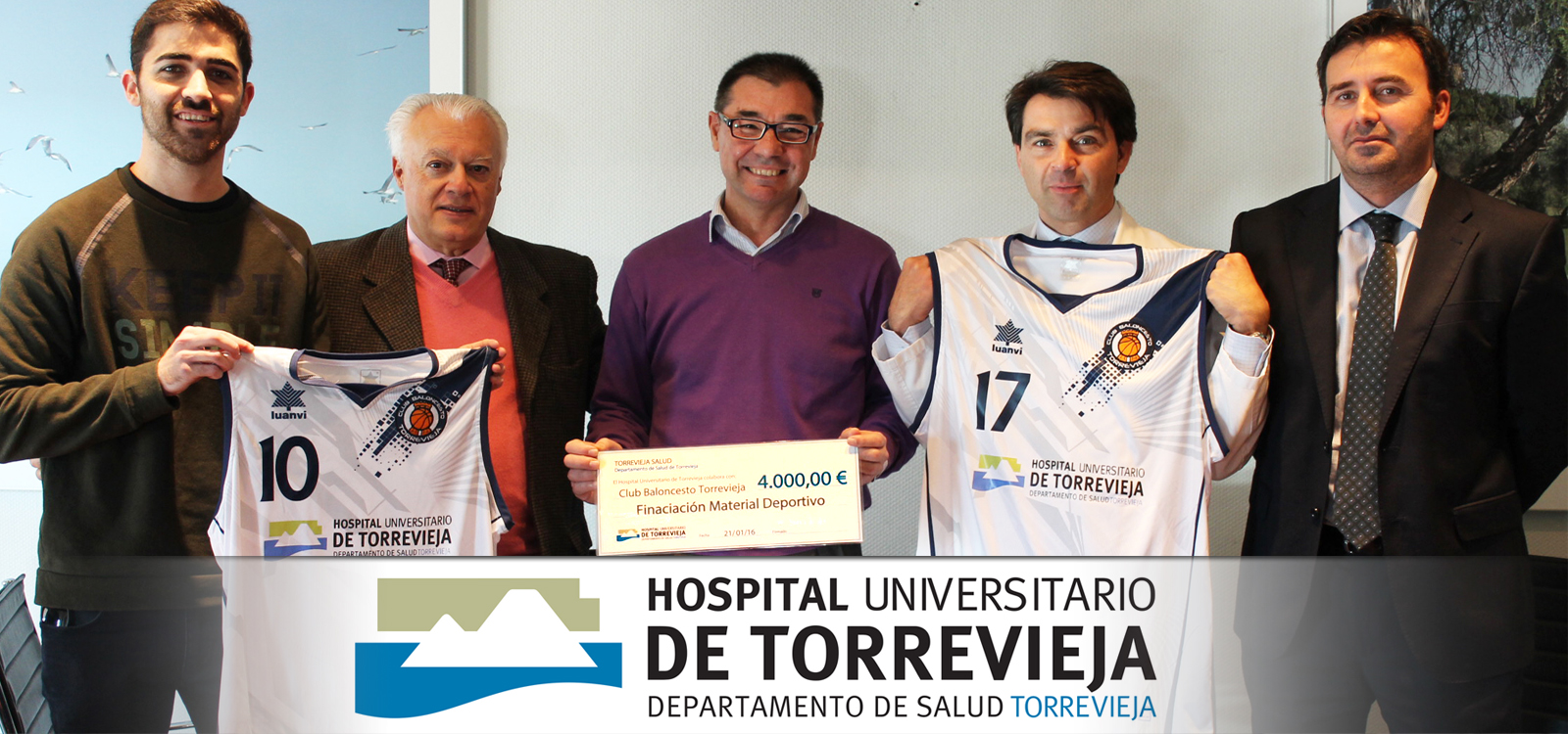 Acuerdo de patrocinio con el Hospital de Torrevieja